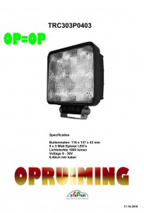OPRUIMING 9 LED